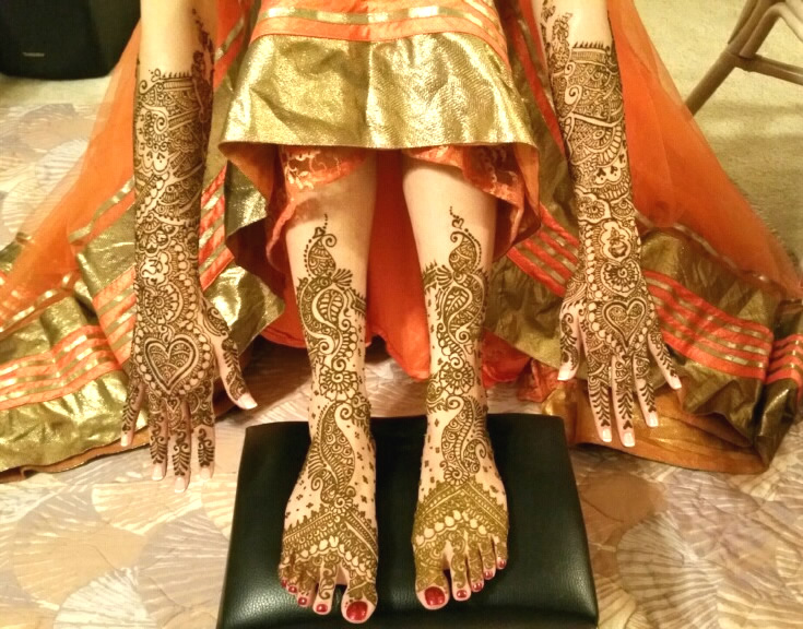 Mehndi Party N Wedding : Tejal henna sari draping  orlando s best